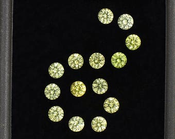 Brilliant Yellow Grandite Garnet Gemstone Set from Mali 2.04 tcw.