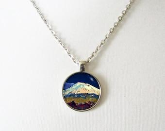 Mount Shasta, Cascade Volcano, Mountain Necklace, Mt Shasta, Shasta, Volacano, Cascade Range, Nature Necklaces, Art Jewelry, Nature