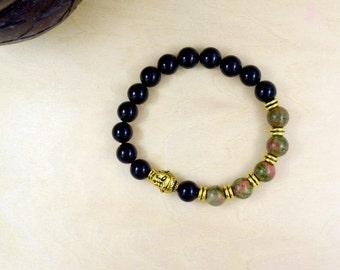 Prayer Wrist Mala Bracelet, Buddhist Bracelet, Mala Bead, Mala Bracelet, Mala Bead Bracelet, Yoga Bracelet, Christmas Gift, Teen Boy Gift