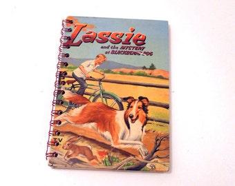 Vintage Lassie Notebook/Art Journal/Sketchbook/Journal/Scrapbook