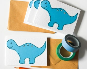Dinosaurs handmade cards, Cards for kids, Thank you cards from a boy, Stocking fillers, Stocking stuffers, Dino stationery,Dinosaurs invites
