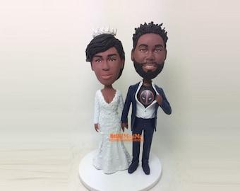 Deadpool Wedding Cake topper Deadpool Bobble head Custom Deadpool cake topper Bobblehead Custom Cake Topper wedding topper -CT G1212