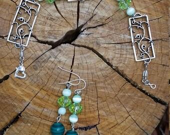 Boho chic bracelet and earring set!