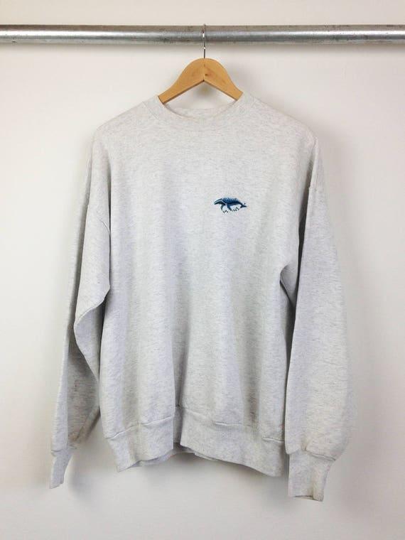 Whale, Hello Vintage Crew Neck Sweatshirt