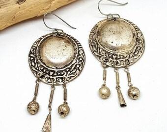 Silver Tribal Earrings - Silver Earrings - Tribal Earrings