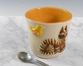 Funny cat tumbler - Cat lover coffee mug - cat tea mug - pottery cat mug - cat tumbler  M88