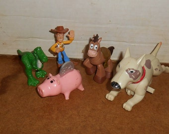 Lot of 5 TOY STORY Pvc Figurines Cake Toppers