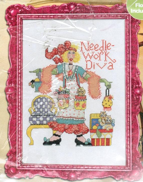 Plaid Bucilla Do It Yourself Counted Cross Stitch Kit, Needlework Diva , DIY Kit,  Free Shipping USA
