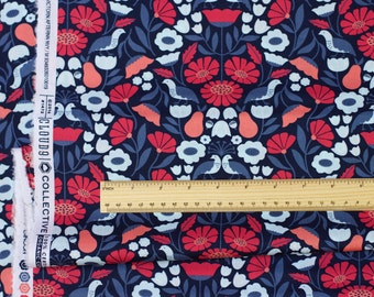 "PARK LIFE fabric by Elizabeth Olwen - Victorian Afternoon, Navy. Cloud 9 Fabrics. Organic cotton poplin. Half Metre/19.5"""