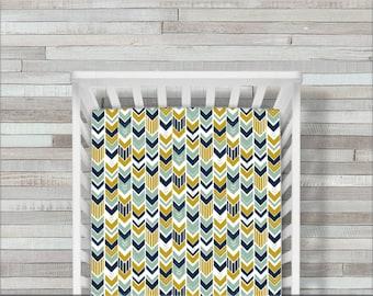 Crib Sheet, Crib Bedding, Arrow Crib Sheet, Woodland Crib Sheet, Baby Bedding, Crib Sheets, Fitted Crib Sheet, Crib Bedding, Baby