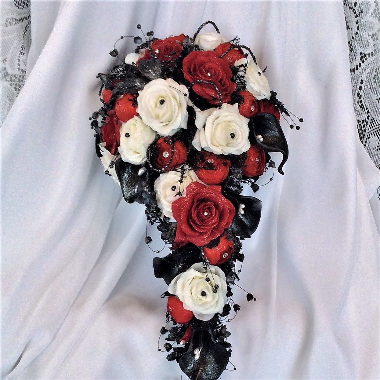 Victorian Gothic Wedding Cascade Wedding