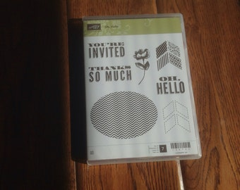 Stampin Up Oh, Hello stamp set, retired