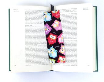 Owl Bookmark, Fabric Bookmark, Colorful Owl Bookmark
