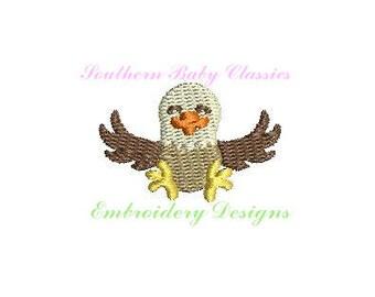 Eagle Patriotic Design Mini File for Embroidery Machine Monogram Instant Download Fourth 4th of July America