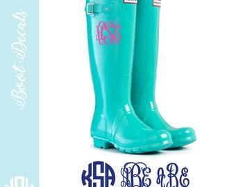 Monogram rain boots   Etsy