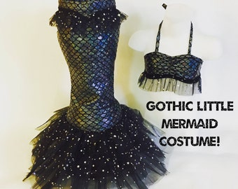 Gothic Little Mermaid Costume! For dress up, Birthdays, Photo shoots, and Halloween