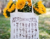 Plant These to Help Save Bees Eco-Friendly Tote Bag / save the bees / pollinator preservation / environmental awareness