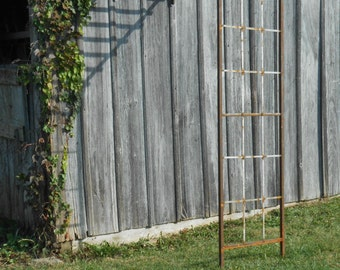 """Wrought Iron Mission Half Arbor That Attaches to Building or Wall - 101""""t"""