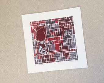 University of Chicago Map Print