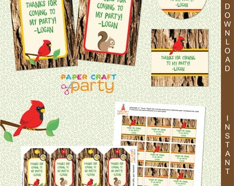Scavenger Hunt Printable Gift Tags | Nature Party Tags | INSTANT DOWNLOAD & Edit in Adobe Reader | Printable Tags | Paper Craft Party