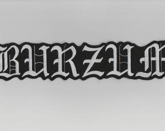 Burzum embroidered back patch black metal astral threads