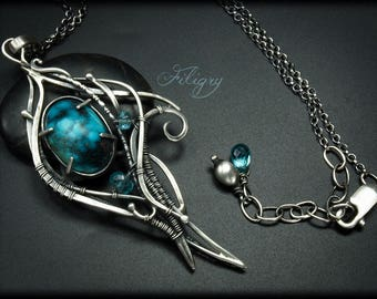Turquoise 935 silver Necklace