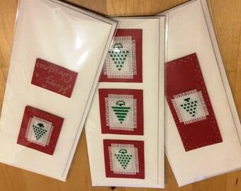 Handmade Christmas Card: Assorted Christmas tree designs