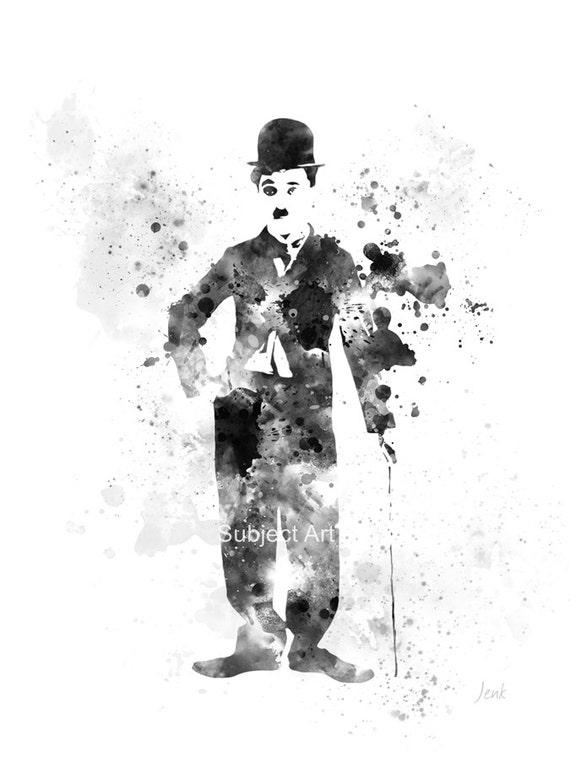Charlie Chaplin ART PRINT illustration Movie Film Wall Art