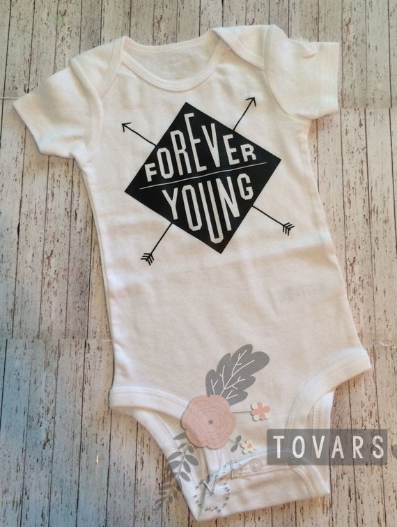 Boho baby clothes forever young baby boy outfit newborn
