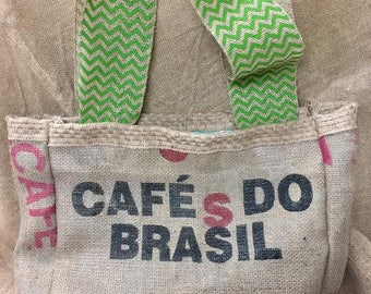 Vintage Coffee Bean Bag Tote