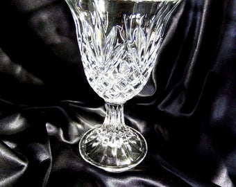 Water Goblet by Cristal D'Arques-Durand, Diamond Cut with Pineapple/Fan