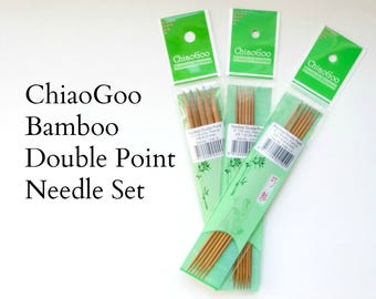 ChiaoGoo Bamboo Double Point Needle Set - Various Sizes - 6 inch length