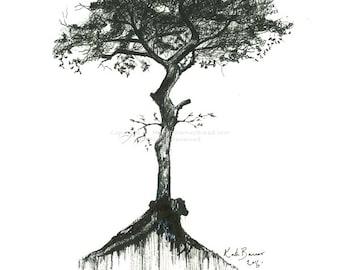 Tree N.1 - Ink art - Print of ink drawing