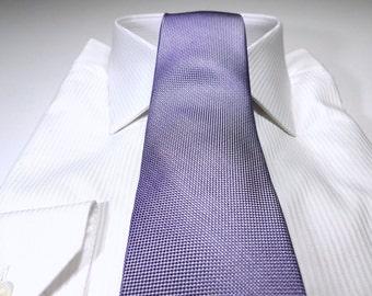 IRIS Purple Silk Tonal Solid Tie with Silver