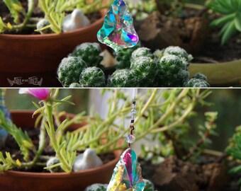 Rainbow Aura Prism - Rainbow Maker- Window Hanging or Necklace