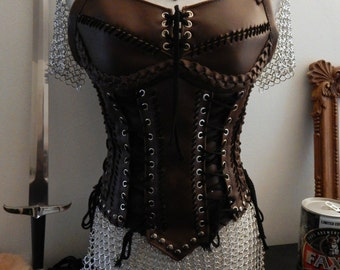 Queen Lagertha inspired armor dress