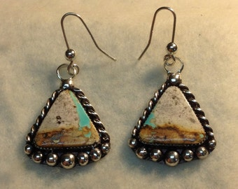 Nevada Turquoise, Royston Boulder Turquoise, Sterling Silver