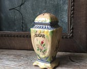 Antique Sugar Shaker | Muffineer Shaker | Hand Painted Floral Design Sugar Caster | Made in Japan | Farmhouse Decor | Cottage Chic Decor