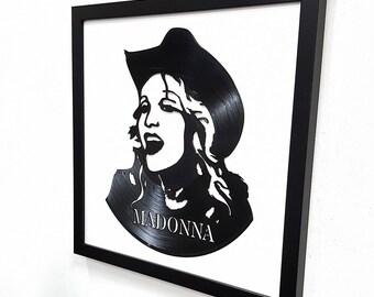 Madonna Wall Art - Vinyl LP Record  Framed -Great Rock'n'Roll Gift