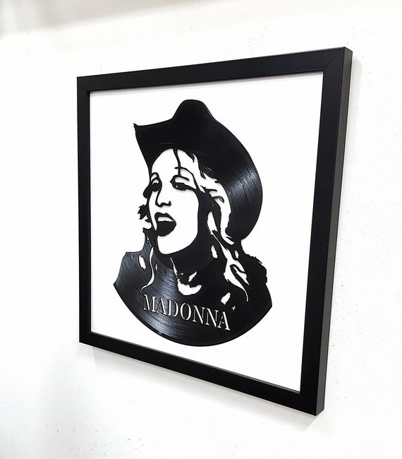 Madonna wall art vinyl lp record framed great for Vinyl record wall art