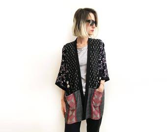 Modern Bohemian Kimono, High End Kimono, Midi Kimono, Unique Cardigan, Loose Cover Up, Special Kimono Cardigan, Modern Boho Clothing