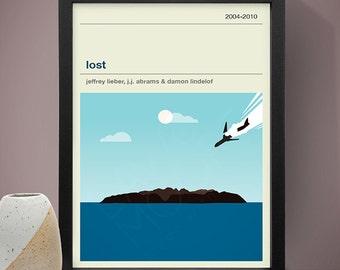 Lost TV Series Poster, TV Print, Print, Poster