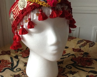 Bellydance headdress, headband, belly dance, tiara, tribaret, tribal fusion