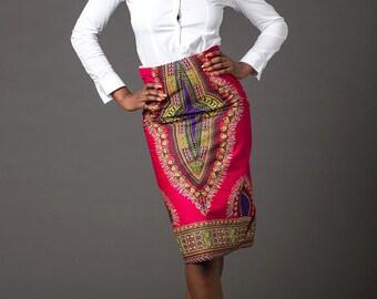 The African shop, African clothing, African dress, African skirt, African fashion, African print skirt, Ankara skirt, high waist midi skirt