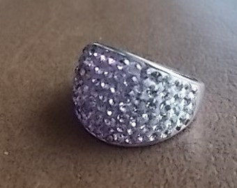 Vintage~Sterling Silver~Multi~Stone~AMETHYST~Ring~Womans~Ring~~size~7~ Fine Jewelry~ 1989's~Hippie~Gem Stone Ring~925 Jewelry~Lots of Bling