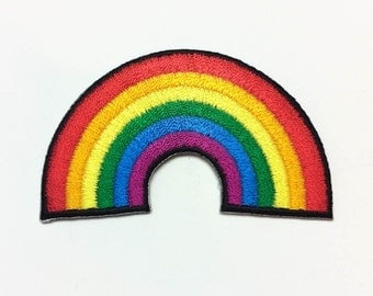 Rainbow Patch / Multicolour Rainbow / Gay Pride / Cartoon Patch / Rainbow Applique