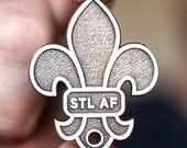STL As F**k Fleur De Lis Key Chain Bottle Opener. Super cool and super rad. Don't be without your St. Louis Pride!