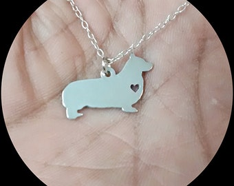 Pembroke Welsh Corgi Necklace - Engraving Pendant - Sterling Silver Jewelry - Gold Jewelry - Rose Gold Jewelry - Personalized Pet Dog