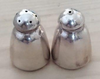 Vintage tiny sterling silver salt and pepper set