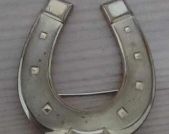 Vintage large horse shoe brooch